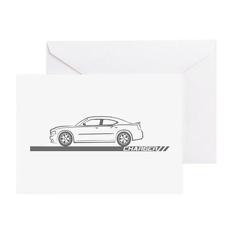 2005-10 Charger Grey Car Greeting Card
