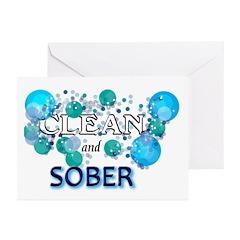 CLEAN n SOBER Greeting Cards (Pk of 20)