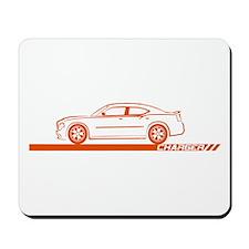 2005-10 Charger Orange Car Mousepad
