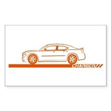 2005-10 Charger Orange Car Rectangle Decal