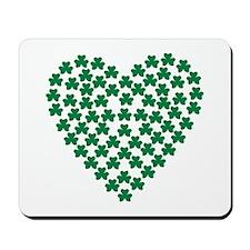 Shamrocks heart Mousepad