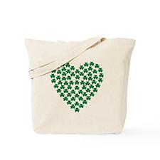 Shamrocks heart Tote Bag