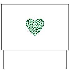 Shamrocks heart Yard Sign