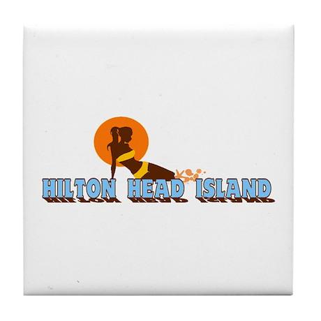 Hilton Head Island SC - Sunbathing Design Tile Coa