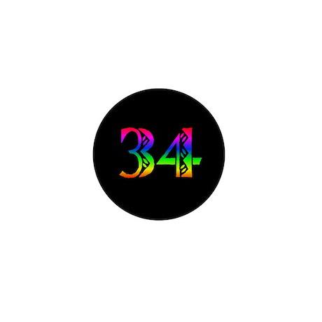 34 Rainbow Mini Button (100 pack)
