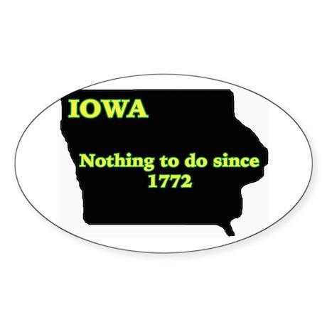 Iowan Oval Sticker