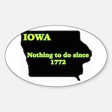 Iowan Oval Stickers