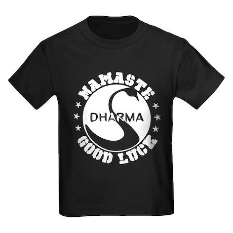 Namaste Good Luck Kids Dark T-Shirt