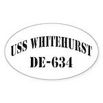 USS WHITEHURST Oval Sticker (10 pk)