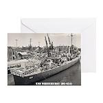 USS WHITEHURST Greeting Card