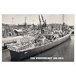 USS WHITEHURST Large Poster