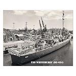 USS WHITEHURST Small Poster