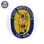 """USS WHITEHURST 3.5"""" Button (10 pack)"""