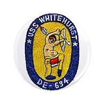 """USS WHITEHURST 3.5"""" Button"""