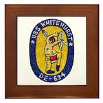 USS WHITEHURST Framed Tile