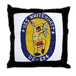USS WHITEHURST Throw Pillow