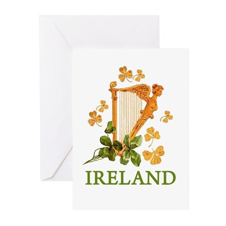 Ireland - Golden Irish H Greeting Cards (Pk of 10)