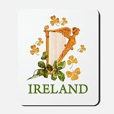 Ireland - Golden Irish Harp Mousepad