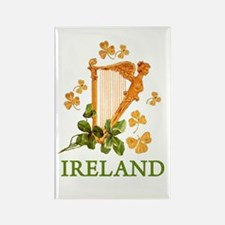 Ireland - Golden Irish Harp Rectangle Magnet