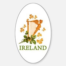Ireland - Golden Irish Harp Decal