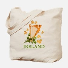 Ireland - Golden Irish Harp Tote Bag