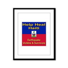 Help Heal Haiti Framed Panel Print