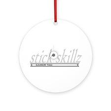 Stick Skillz:Custom Ornament (Round)