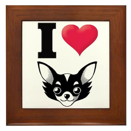 I Love Chihuahua Framed Tile