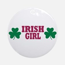 Irish girl Ornament (Round)