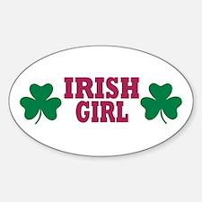 Irish girl Oval Decal