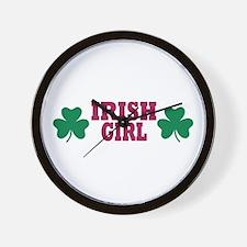 Irish girl Wall Clock