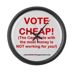 VOTE CHEAP! Large Wall Clock