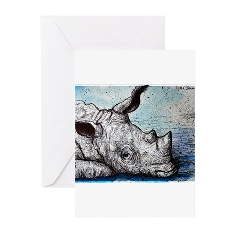 Wildlife, Rhino, Greeting Cards (Pk of 20)