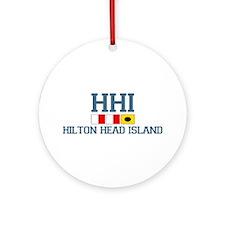 Hilton Head Island SC - Nautical Design Ornament (