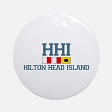 Hilton Head Island SC - Nautical Design Ornament (