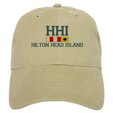 Hilton Head Island SC - Nautical Design Baseball Cap