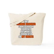 Orange Bronzer Tote Bag
