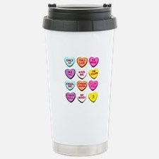 Candy Hearts Stainless Steel Travel Mug