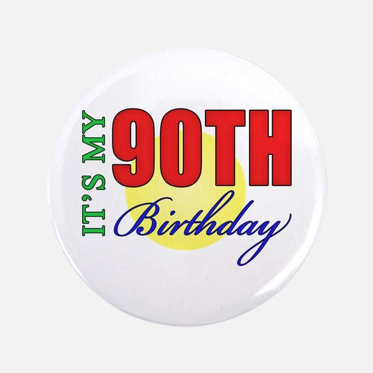 "90th Birthday Party 3.5"" Button"