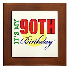 90th Birthday Party Framed Tile
