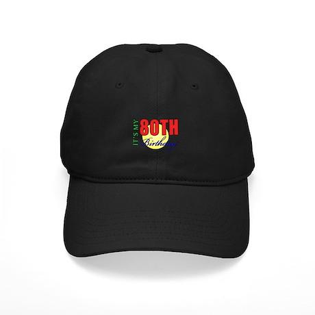80th Birthday Party Black Cap