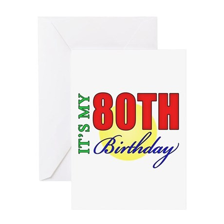 80th Birthday Party Greeting Card