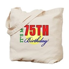 75th Birthday Party Tote Bag