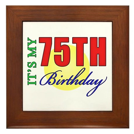 75th Birthday Party Framed Tile