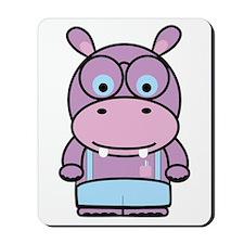 Purple Hippo Nerd Mousepad