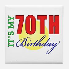 70th Birthday Party Tile Coaster