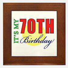 70th Birthday Party Framed Tile