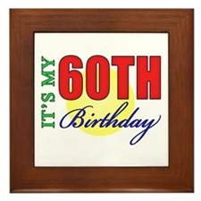 60th Birthday Party Framed Tile