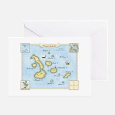 Galapagos Archipelago Map Greeting Card