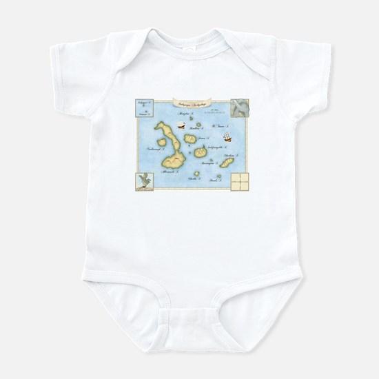 Galapagos Archipelago Map Infant Bodysuit